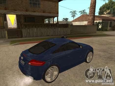 Audi TT RS 2010 para la visión correcta GTA San Andreas