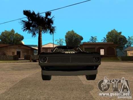 Plymouth Hemi Cuda Rogue Speed para la visión correcta GTA San Andreas