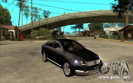 Volkswagen Passat 2.0 TDI Bluemotion 2011 para GTA San Andreas vista hacia atrás