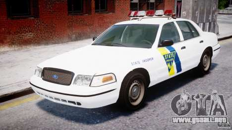 Ford Crown Victoria New Jersey State Police para GTA 4 left
