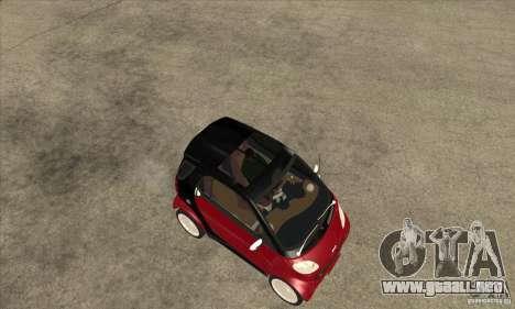 Smart para GTA San Andreas vista hacia atrás