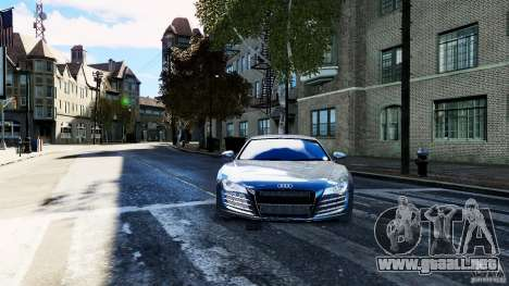 Audi R8 Spider 2011 para GTA 4 visión correcta