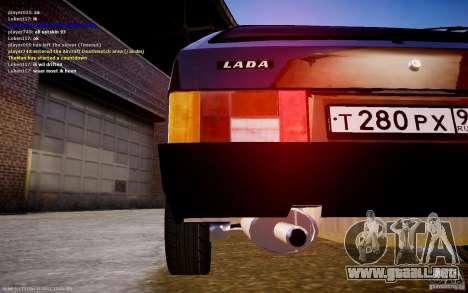 VAZ 2108 para GTA 4 Vista posterior izquierda