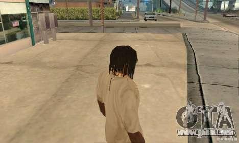 Pelo largo y negro para GTA San Andreas segunda pantalla