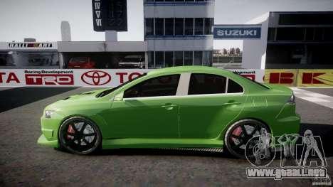 Mitsubishi Lancer Evolution X Tuning para GTA 4 vista superior
