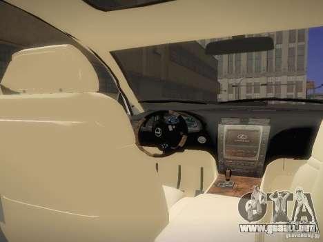 Lexus GS450H para la visión correcta GTA San Andreas