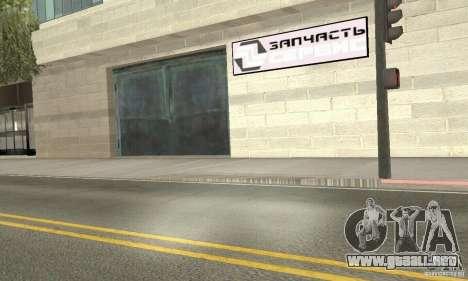 Servicio de parte de cinco estrellas y repuestos para GTA San Andreas segunda pantalla