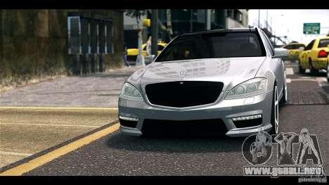 Mercedes-Benz S65 W221 AMG Vossen para GTA 4 Vista posterior izquierda