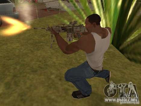 Ametralladora MK-48 para GTA San Andreas quinta pantalla