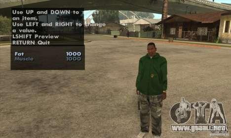 Skin Selector v2.1 para GTA San Andreas sexta pantalla