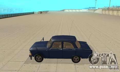 Moskvich 412 con afinación para GTA San Andreas left