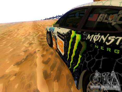Ford Fiesta RS WRC 2012 para visión interna GTA San Andreas