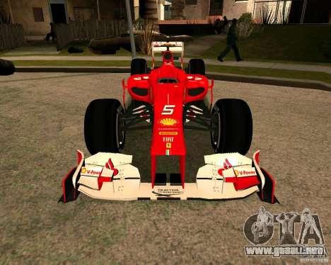 Ferrari Scuderia F2012 para la visión correcta GTA San Andreas