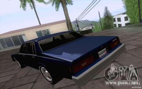 Chevrolet Caprice Clasico para GTA San Andreas vista posterior izquierda