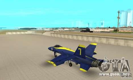 Blue Angels Mod (HQ) para GTA San Andreas vista posterior izquierda