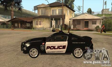 Shelby GT500 2010 Police para GTA San Andreas left