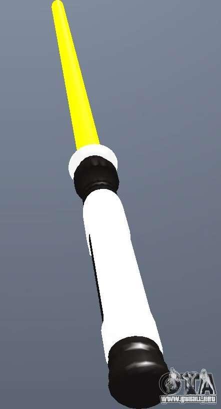 Lightsabre v2 Yellow para GTA San Andreas segunda pantalla