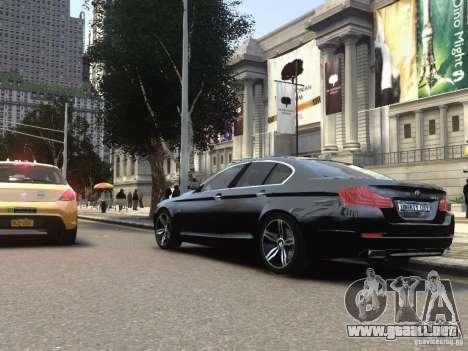 BMW 550i F10 para GTA 4 Vista posterior izquierda