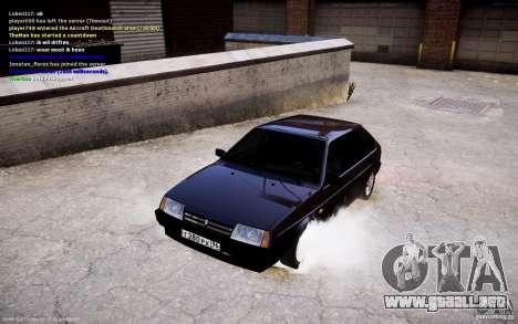 VAZ 2108 para GTA 4 vista hacia atrás