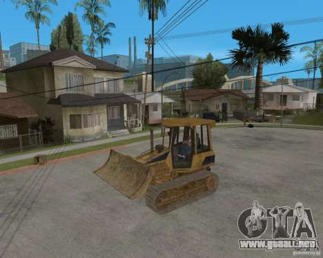 Bulldozer del COD 4 MW para GTA San Andreas vista hacia atrás