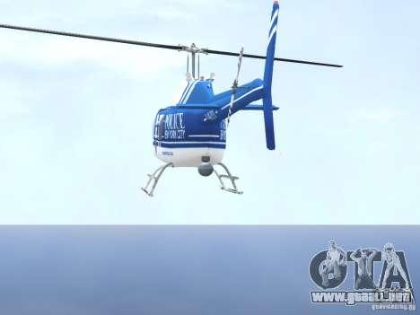 Bell 206 B - NYPD para GTA 4 vista desde abajo