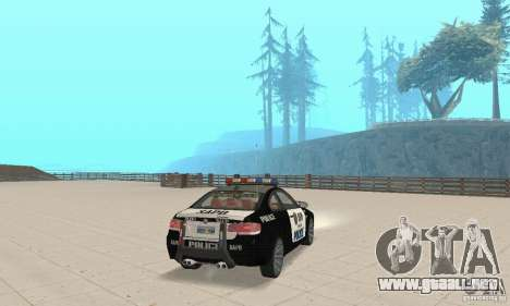 BMW M3 E92 Police para GTA San Andreas left