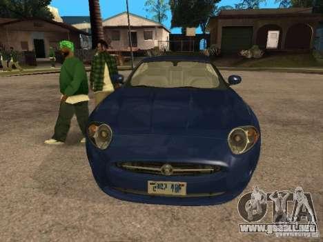Jaguar XK para visión interna GTA San Andreas