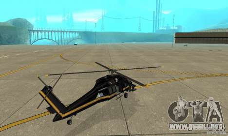 Annihilator para GTA San Andreas vista posterior izquierda