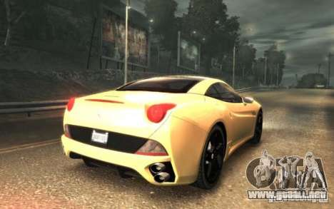 Ferrari California para GTA 4 left