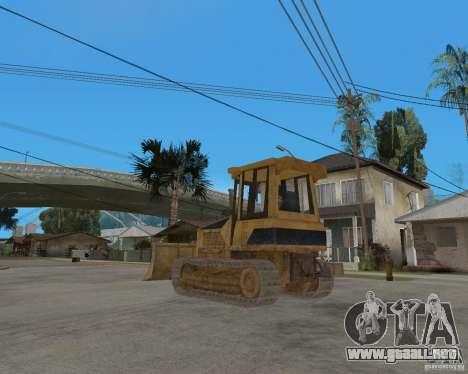 Bulldozer del COD 4 MW para GTA San Andreas vista posterior izquierda
