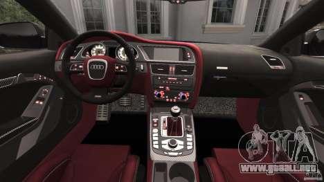 Audi RS5 2011 [EPM] para GTA 4 vista hacia atrás