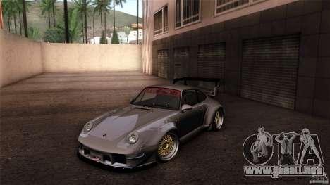 Porsche 993 RWB para vista inferior GTA San Andreas