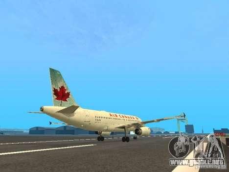 Airbus A319 Air Canada para la visión correcta GTA San Andreas
