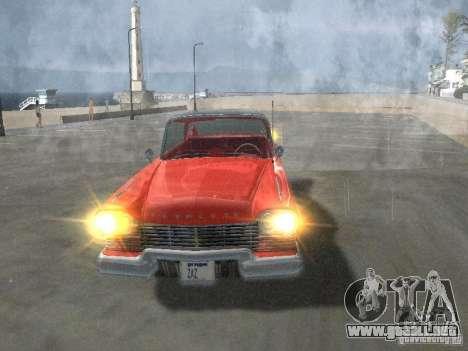 Plymouth Belvedere Sport sedan para vista lateral GTA San Andreas