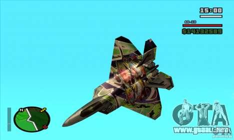 F-22 Raptor Graffity Skin para GTA San Andreas left
