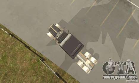 Peterbilt 379 Custom Legacy para GTA San Andreas vista hacia atrás