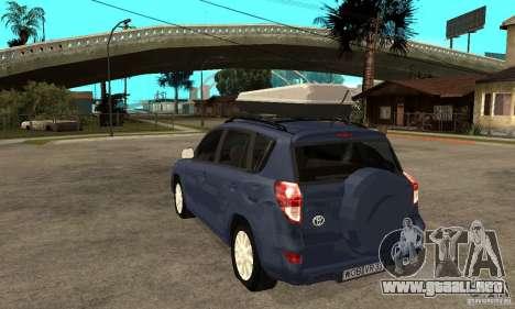 Toyota RAV4 V2 para GTA San Andreas vista posterior izquierda