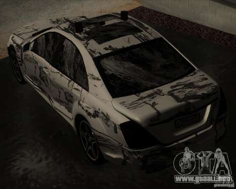 Mercedes-Benz S65 AMG W221 para vista lateral GTA San Andreas
