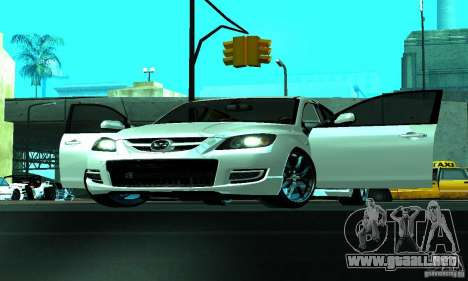 Mazda Speed 3 para visión interna GTA San Andreas
