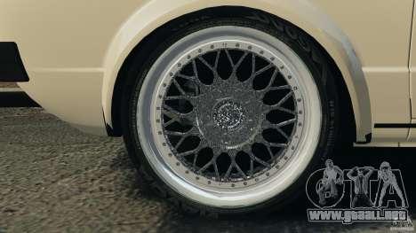Volkswagen Golf Mk1 Stance para GTA 4 vista desde abajo