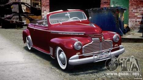 Chevrolet Special DeLuxe 1941 para GTA 4 vista hacia atrás