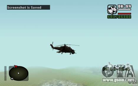 Mi-24 para vista lateral GTA San Andreas