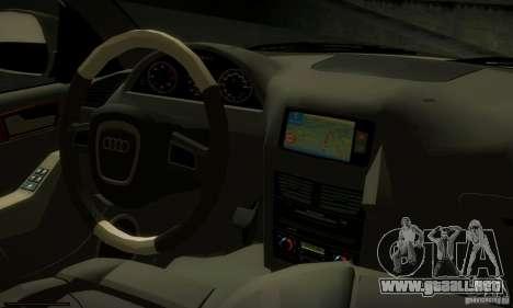 Audi Q5 TDi - Policija para GTA San Andreas vista hacia atrás