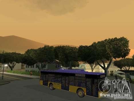 Trolebús LAZ e-183 para GTA San Andreas left