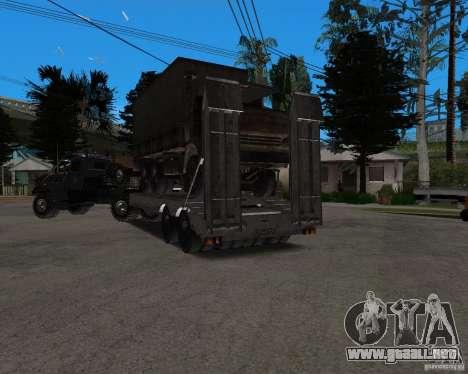 KrAZ 255 + remolque artict2 para vista lateral GTA San Andreas