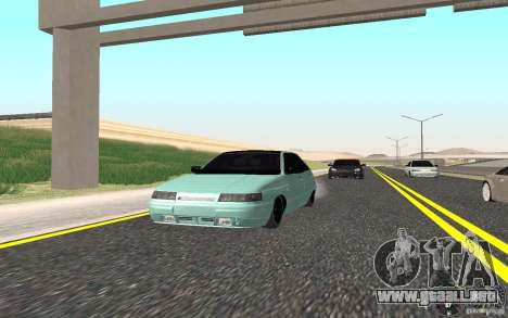 Ajuste ligero VAZ-2112 para GTA San Andreas vista posterior izquierda