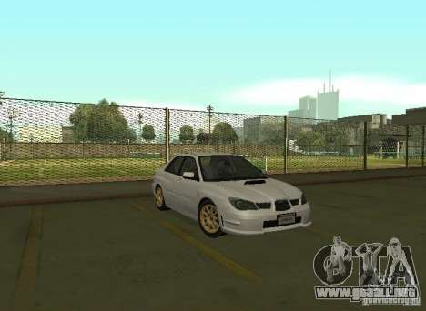 Subaru Impreza WRX STI-Street Racing para GTA San Andreas vista posterior izquierda