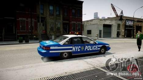 Chevrolet Caprice 1991 NYPD para GTA 4 left