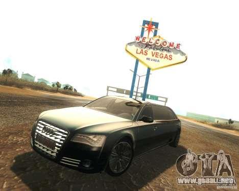 Audi A8 2011 Limo para GTA San Andreas