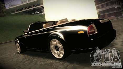 Rolls Royce Phantom Drophead Coupe 2007 V1.0 para GTA San Andreas vista posterior izquierda